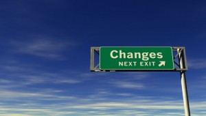 changes road sign 300x170 Change is in the air...