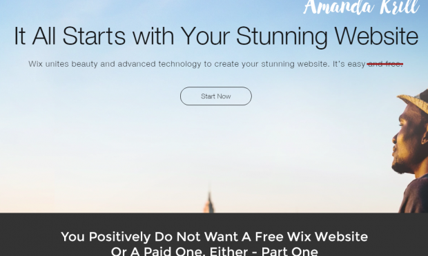 You Positively Do Not Want A Free Wix Website Or A Paid One, Either – Part One