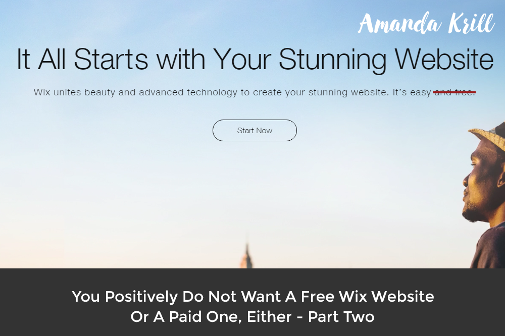 You Positively Do Not Want A Free Wix Website Or A Paid One, Either – Part Two